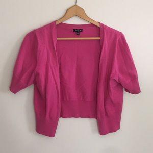 Apt. 9 Pink Cropped Cardigan